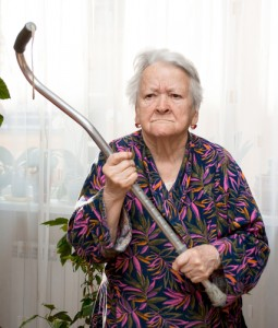 angry Alzheimer's patient